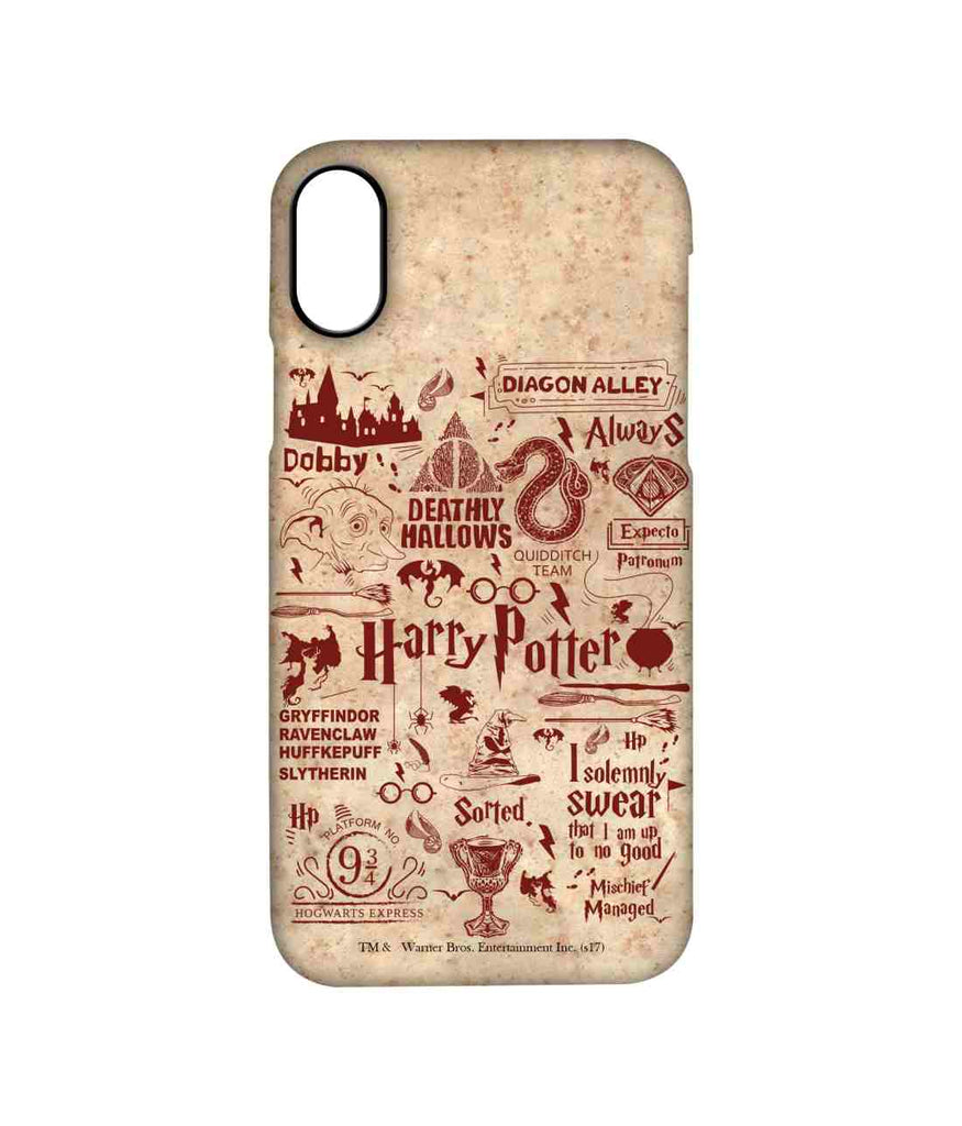Harry Potter Infographic Red - Pro Phone Cases For Apple iPhone X