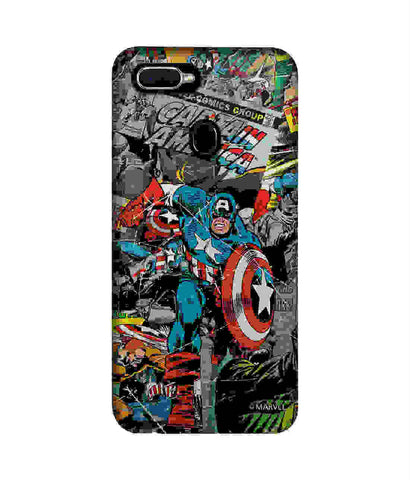 Comic Captain America - Sublime Phone Cases For Oppo F9 Pro