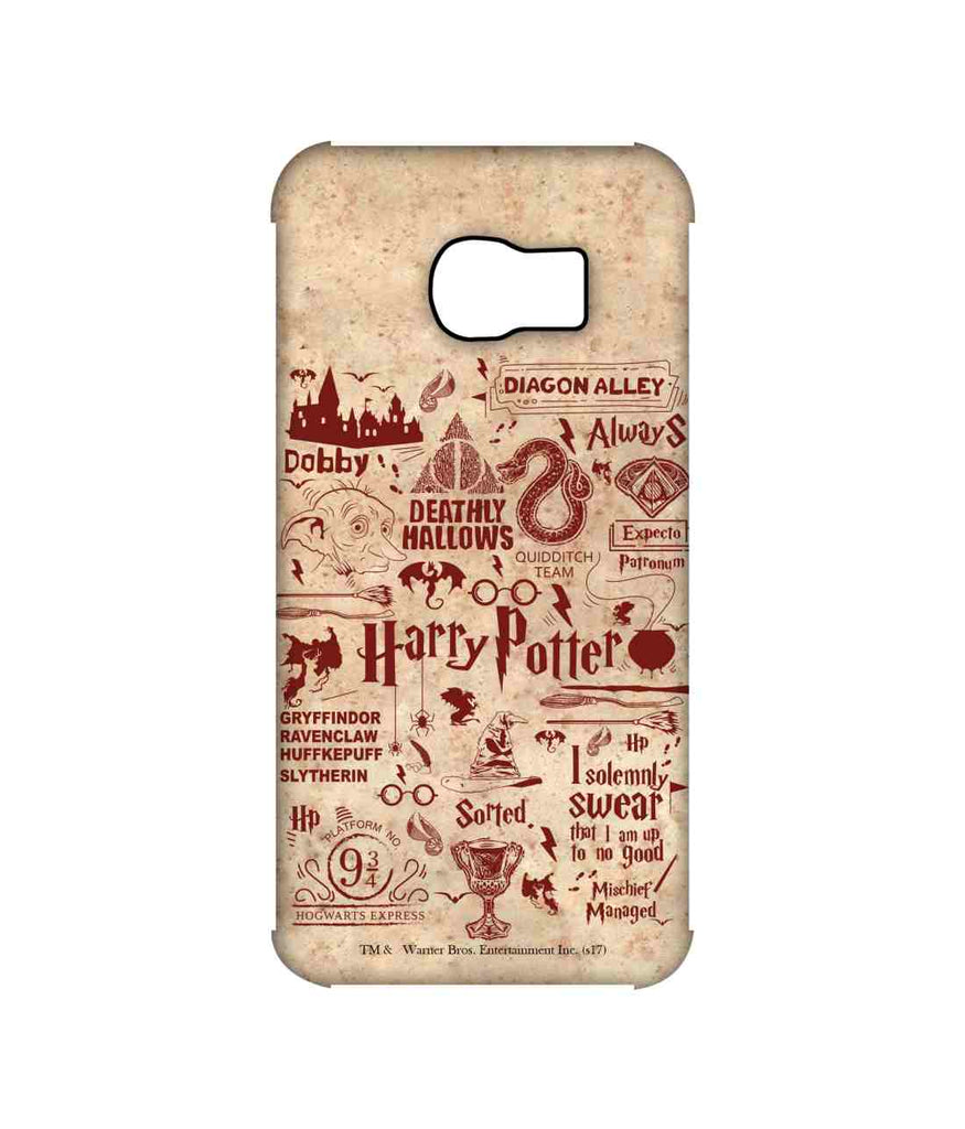 Harry Potter Infographic Red - Pro Phone Cases For Samsung Samsung S6 Edge