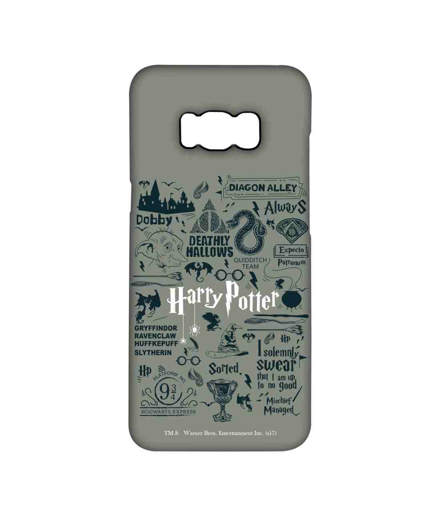 Harry Potter Infographic Grey - Pro Phone Cases For Samsung Samsung S8 Plus