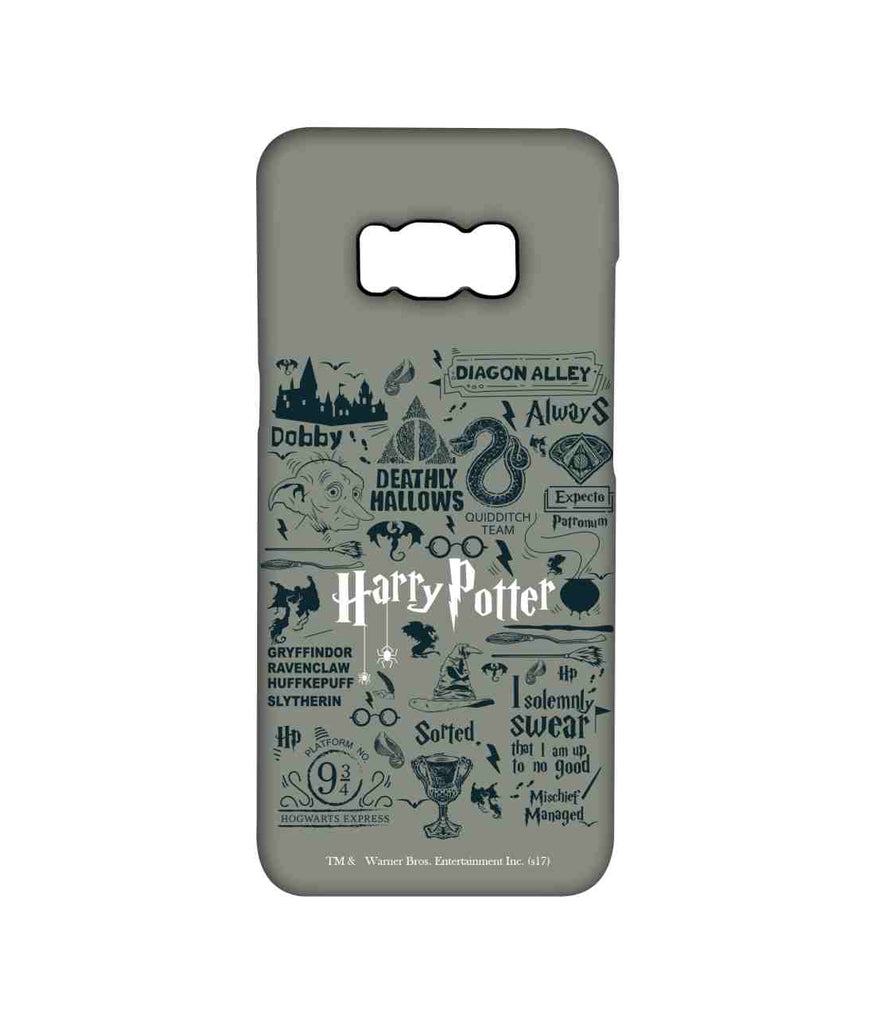 Harry Potter Infographic Grey - Pro Phone Cases For Samsung Samsung S8