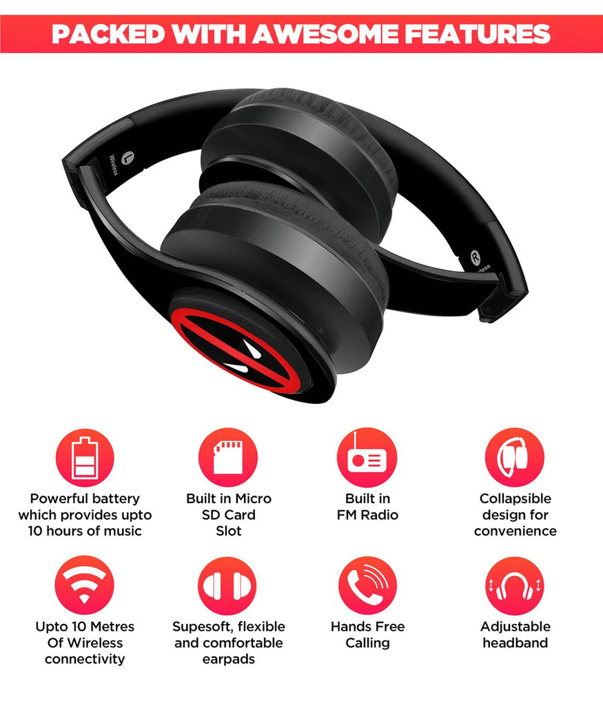 Face Focus Deadpool - Wireless Headphones