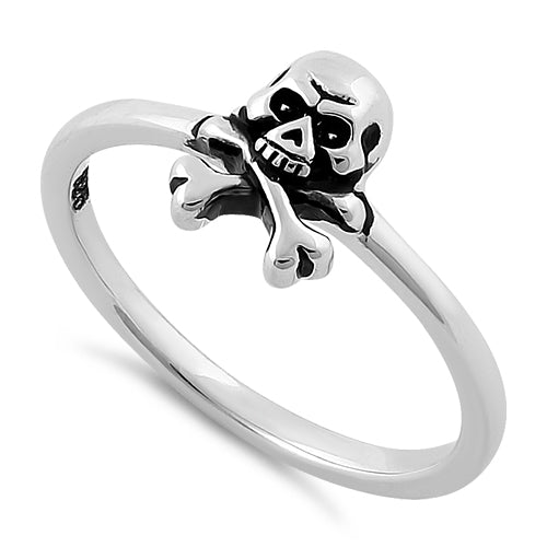 Sterling Silver Jolly Roger Skull Ring – Badass Jewelry 9a19131c31