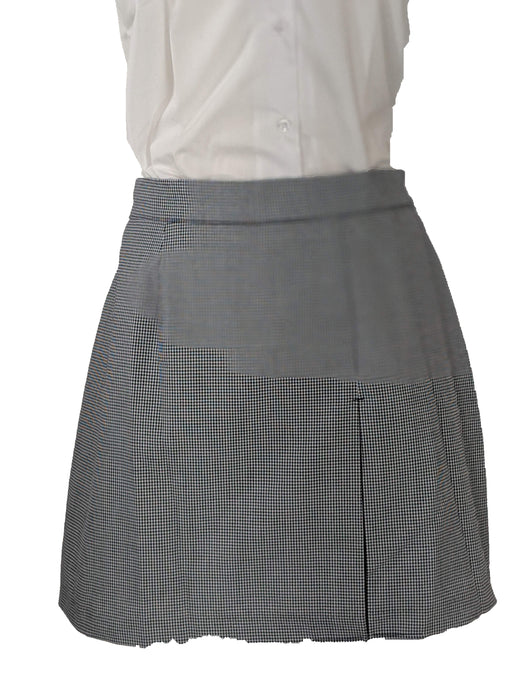 Skirt Plaid #03N Gray and White Size 4-20 Plus Sizes Included