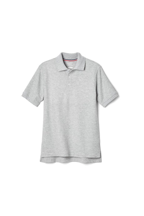 Polo, Boys Grey Short Sleeve Pique