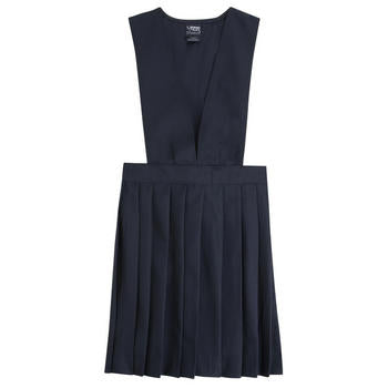 Jumper, V-Neck Pleated Navy