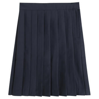 Below the Knee Pleated Skirt, Navy