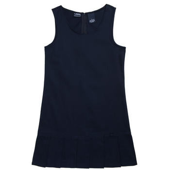 Jumper, Girls Navy Pleated Hem, With Grosgrain Ribbon, Size 4-14