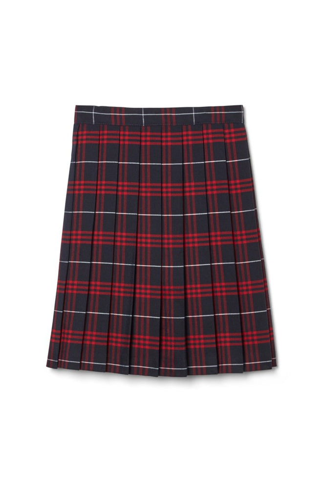 Skirt, Plaid #36 - Navy/Red, Full Knife Pleat