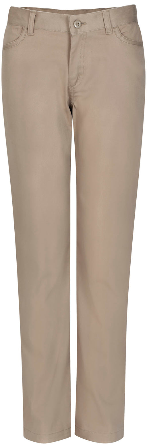 Pants, Girls Khaki Flat Front Narrow Leg Matchstick