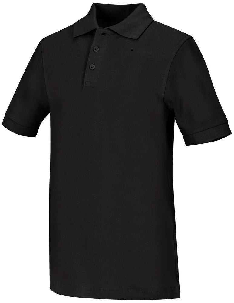 Polo, Unisex Black S/S Youth