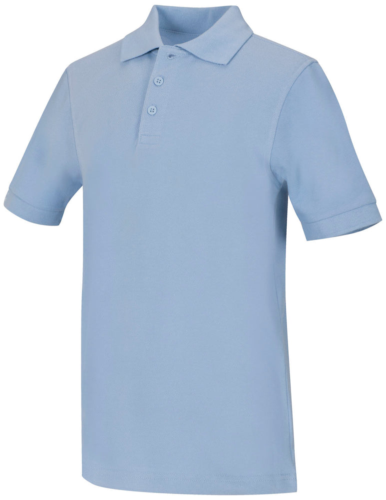 Polo, Unisex Light Blue S/S Youth