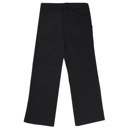 Flat Front Pants Girls Black Bootcut