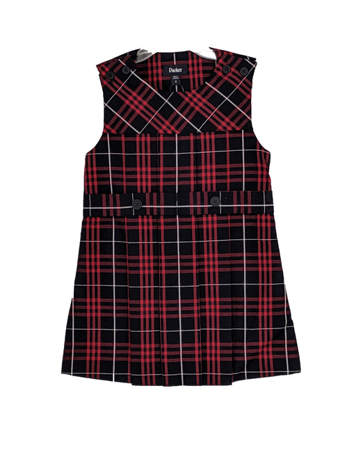 Jumper, Navy/Red Classic Navy, Plaid #36, High Round Neck, Large Sizes 4-20 Plus Sizes Included