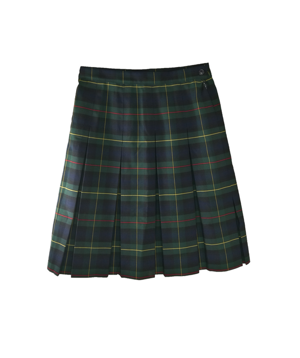 "Skirt Pleated ""Green Plaid"" #83"
