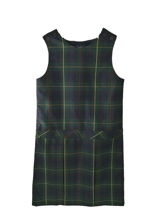 "Jumper, ""Green Plaid"" #83, High Round Neck, Full Pleated Skirt"