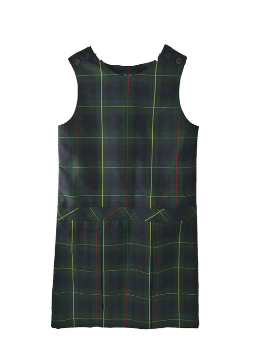 "Jumper, ""Green Plaid"" #55, High Round Neck, Full Pleated Skirt"