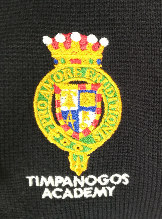Polo, Unisex L/S Pique Timpanogos Academy Embroidered