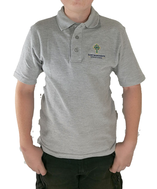 Polo, Unisex S/S Pique Saint Marguerite Catholic School Embroidered