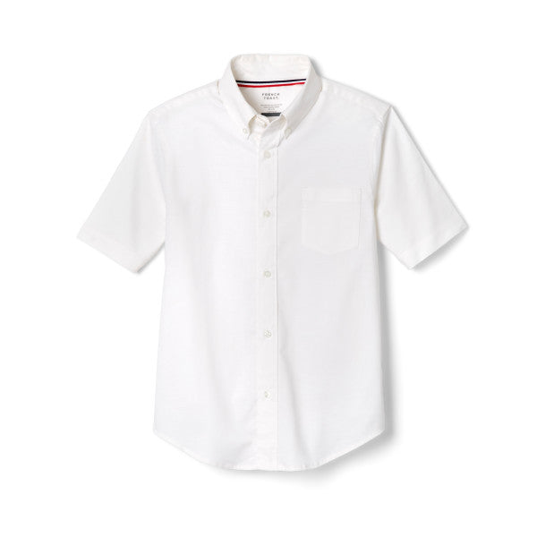 Oxford Shirt, Boys White S/S