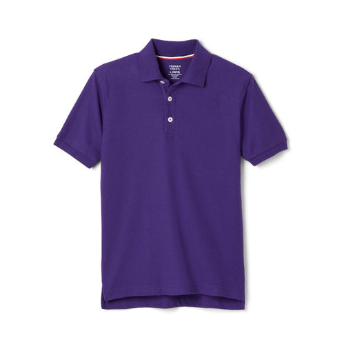Short Sleeve Pique Polo, Purple