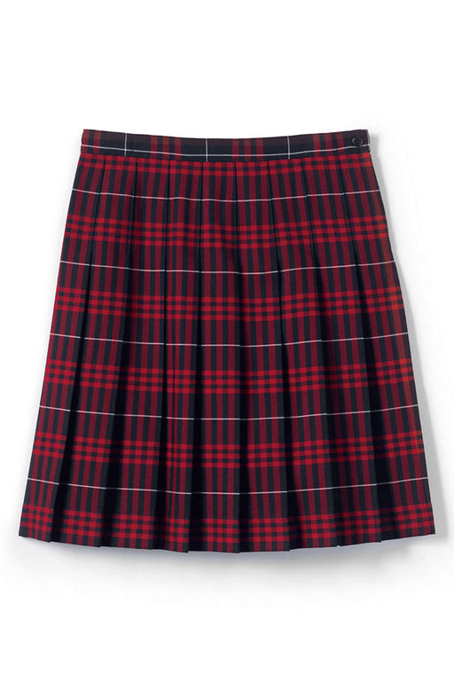 "Skirt Pleated Below the Knee ""Navy/Red"" ""Classic Navy Large"" Plaid #36"