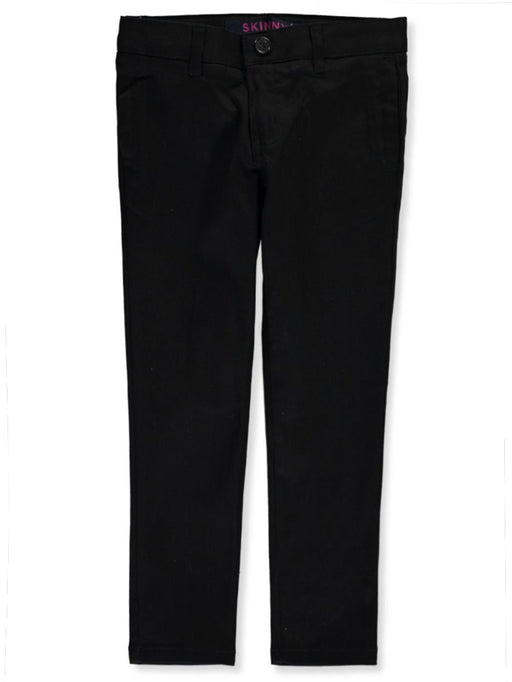 Pants, Girls Black Straight Leg Twill