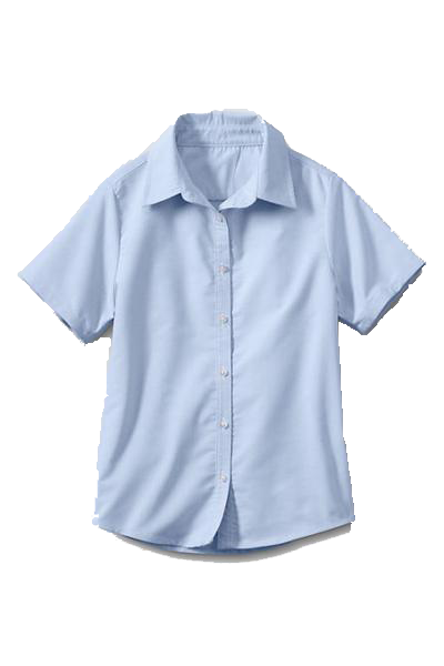 Oxford Blouse S/S Women's Blue