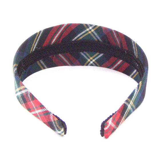 "Headband ""Macbeth"" Plaid # 63 Padded"