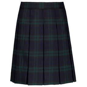 "Skirt, Full Pleat ""Classic Navy/Evergreen"" ""Blackwatch"" Plaid #77"