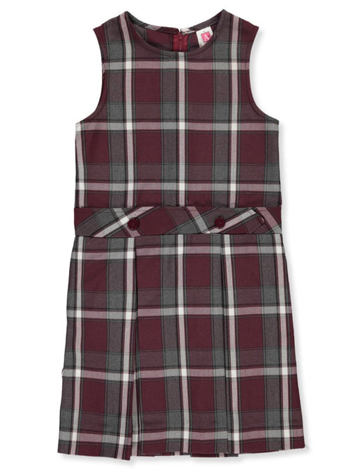 Jumper Plaid #91 High Neck Box Pleated