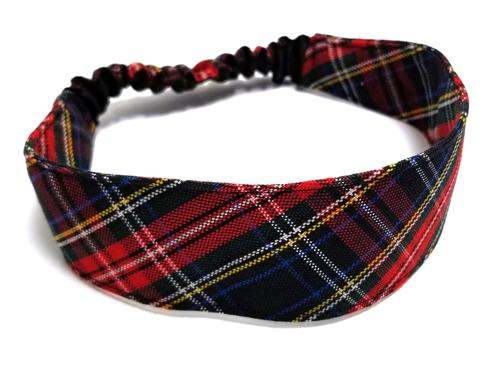 Plaid #63 Headband Elastic Back