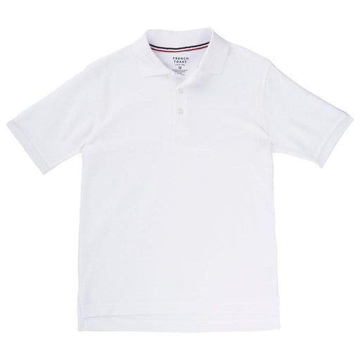 Polo, Boys White Short Sleeve Pique