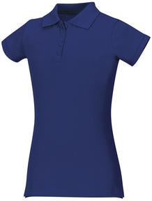 Polo, Young Women's Royal Blue Short Sleeve