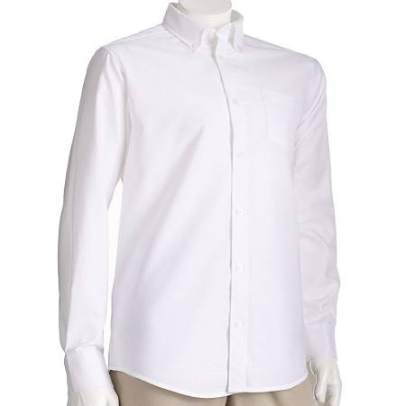 Oxford Shirt, Men's White L/S