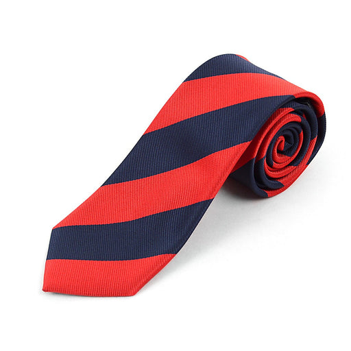 Tie, Zip-Up Red/Navy