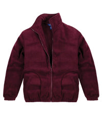 Jacket, Burgundy Fleece Monticello Academy Embroidered, Youth 7-20