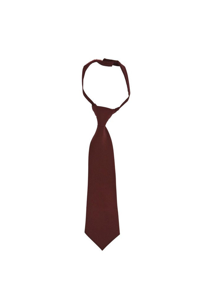 Tie, Unisex Burgundy, Velcro Adjustable