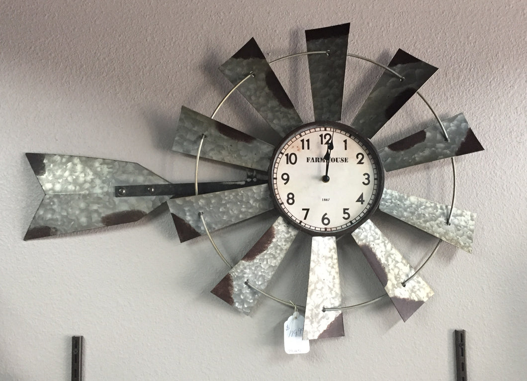 Long windmill clock