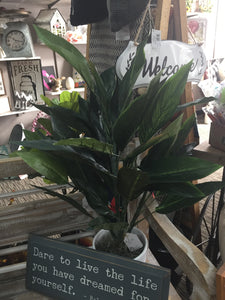 Faux Bird of Paradise plant