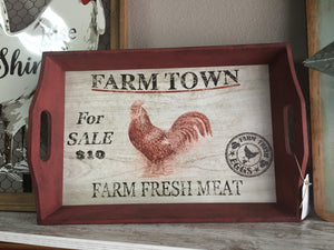 Farm Town tray SALE 1/2 OFF!!!