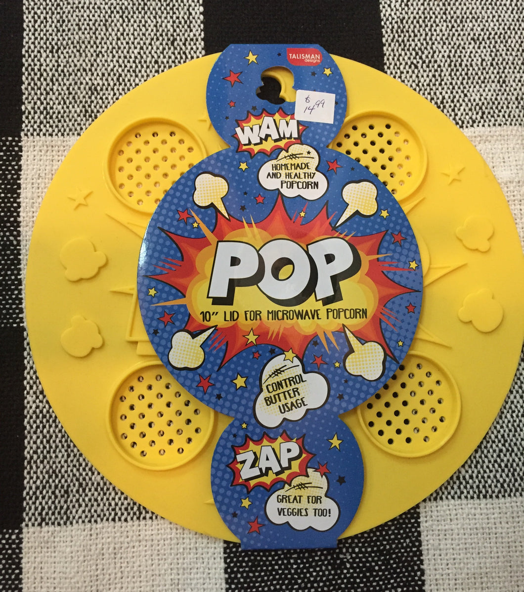 Popcorn  lid for microwave popcorn