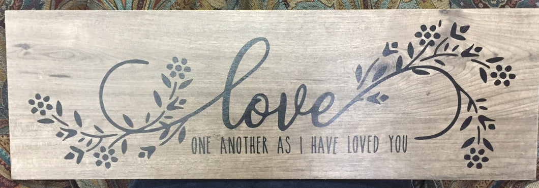 Love one another. . .