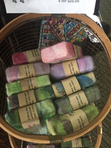 Wool felted soaps