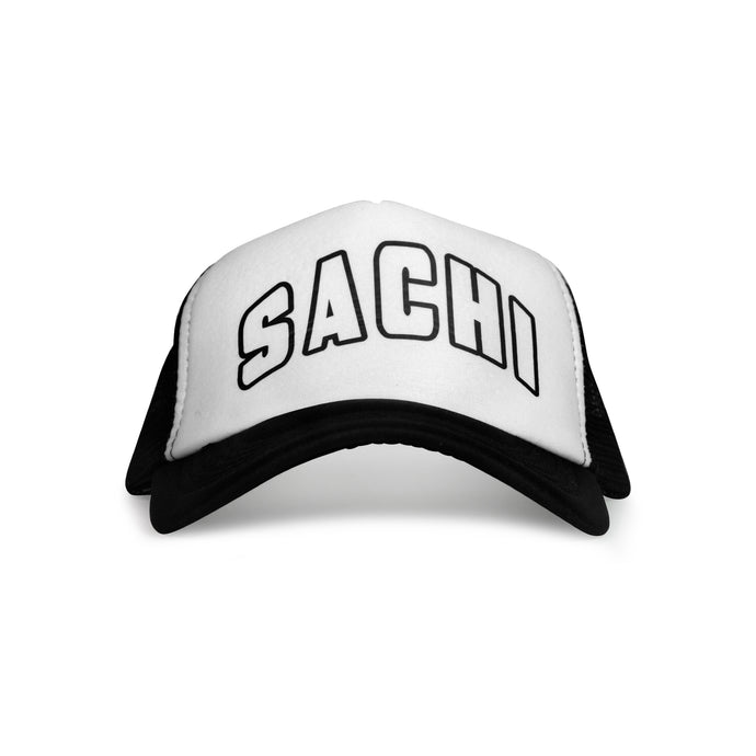 SACHI TRUCKER CAP BLACK/WHITE