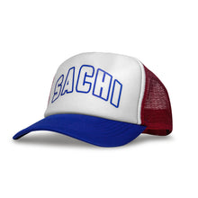 Load image into Gallery viewer, SACHI TRUCKER CAP BLUE/RED