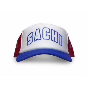 SACHI TRUCKER CAP BLUE/RED