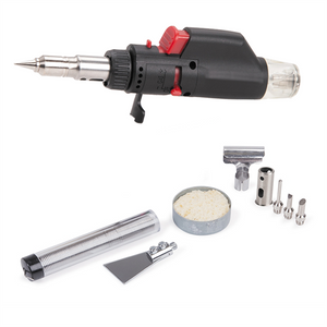 Tradeflame - Butane-Powered Mini Soldering Torch Kit 10-in-1 (TDF-211189)