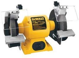 DEWALT DW756 6-Inch Bench Grinder. Yellow. Black. Gray