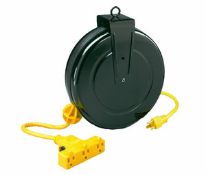 Alert Stamping 5000M-30GF-CB Retractable Extension Cord Reel w/Circuit Breaker. 30-Feet